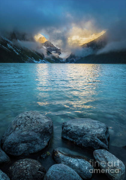 Canadian Rockies Wall Art - Photograph - A Break In The Clouds by Inge Johnsson