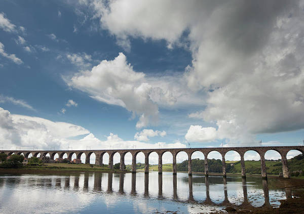 Berwick Upon Tweed Photograph - A Bridge Reflected In The Water by John Short / Design Pics