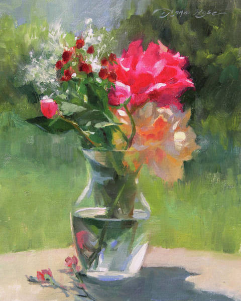 Outdoors Painting - A Bright Day by Anna Rose Bain