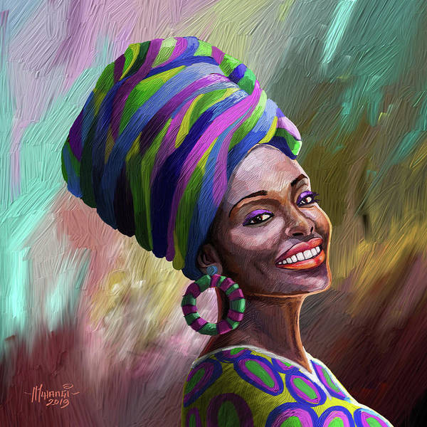 Wall Art - Painting - A Bright Smile For All by Anthony Mwangi