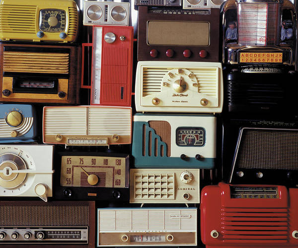 Wall Art - Photograph - A Bunch Of Old Radios Piled Up, Old by Greg Huszar
