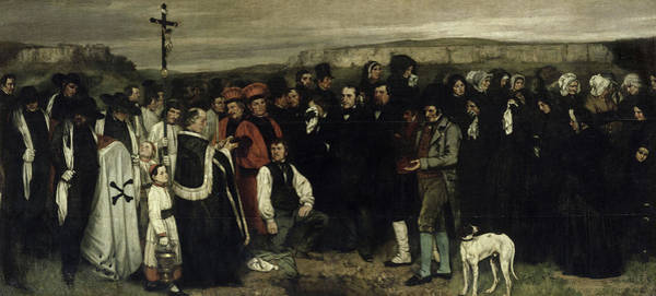 Wall Art - Painting - A Burial At Ornans, 1850 by Gustave Courbet