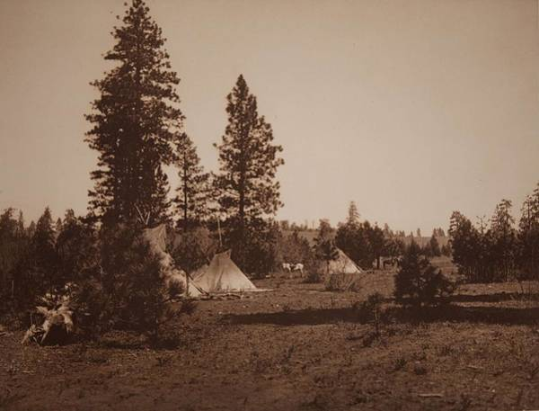 Painting - A Camp Of The Yakima By Edward Sheriff Curtis by Celestial Images