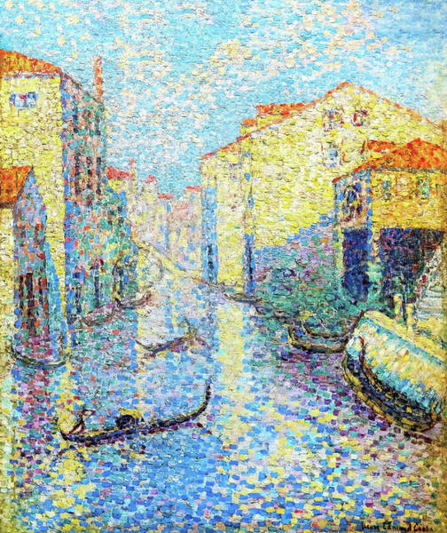Wall Art - Painting - A Canal In Venice - Digital Remastered Edition by Henri Edmond Cross