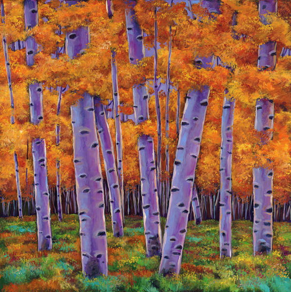 Birches Painting - A Chance Encounter by Johnathan Harris