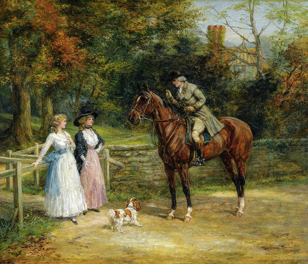 Wall Art - Painting - A Charming Encounter by Heywood Hardy