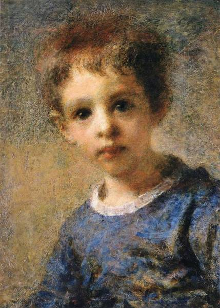 Wall Art - Painting - A Child By Daniele Ranzoni by Celestial Images