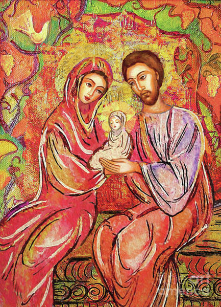 Divine Love Wall Art - Painting - A Child Is Born by Eva Campbell