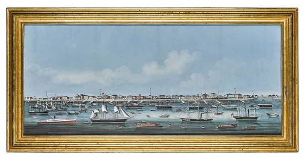 Wall Art - Painting - A Chinese School Painting Of The Bund At Shanghai by Celestial Images
