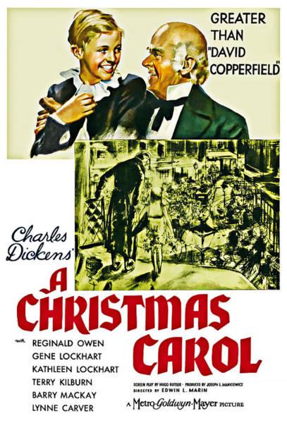 Digital Art - A Christmas Carol Movie Poster 1938 by Joy McKenzie