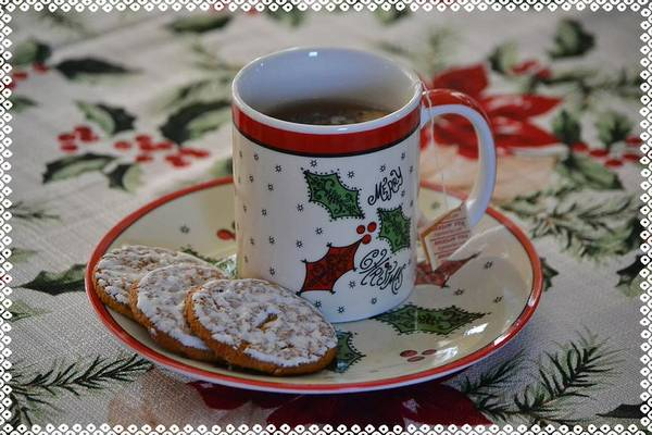 Icing Digital Art - A Christmas Tea Break by Gaby Ethington