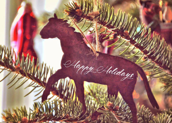 Photograph - A Christmas Trot Quote by Jamart Photography