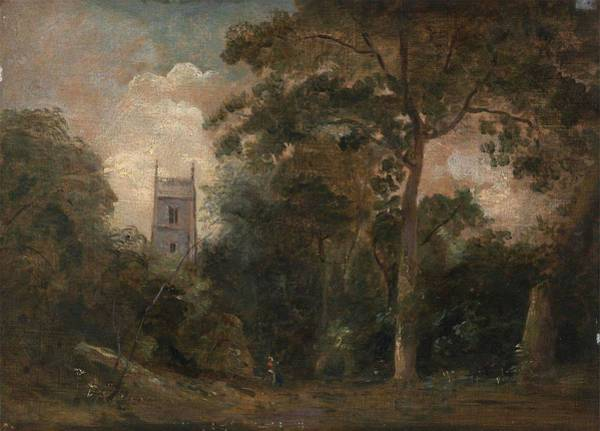 Wall Art - Painting - A Church In The Trees John Constable by Celestial Images