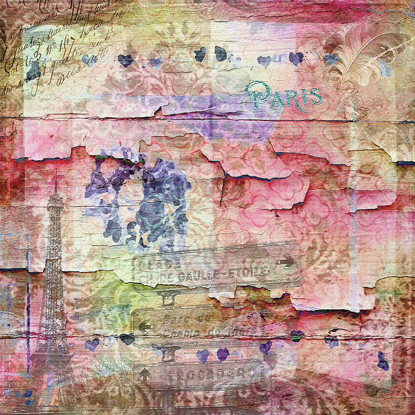 Pink Wall Art - Mixed Media - A City Besieged by Paula Ayers
