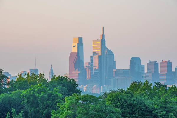 Photograph - A City Morning - Philadelphia by Bill Cannon