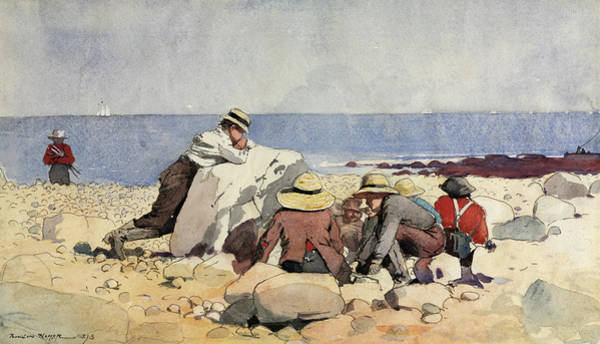 Wall Art - Painting -  A Clam-bake, 1873 by Winslow Homer