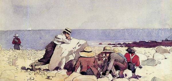Wall Art - Painting - A Clam Bake Winslow Homer by Celestial Images