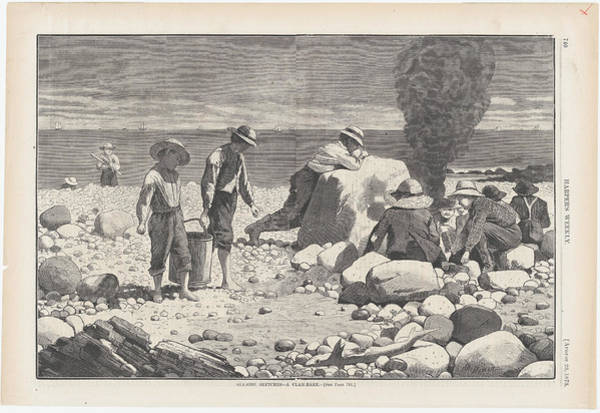 Wall Art - Painting - A Clam Bake by Winslow Homer