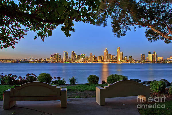 Photograph - A Classic View Of The San Diego Skyline by Sam Antonio Photography