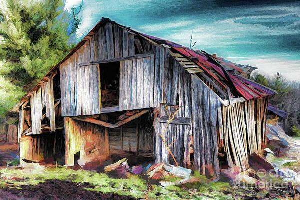 Wall Art - Painting - A Classic Vintage Barn In The Blue Ridge Ap by Dan Carmichael