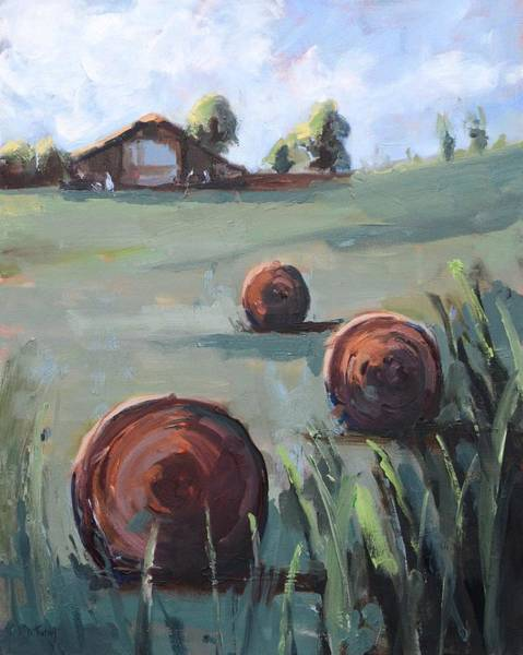 Painting - A Clear Country Day Painting by Donna Tuten