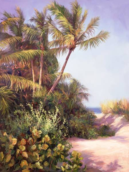 Sea Oats Painting - A Clear Day by Laurie Snow Hein