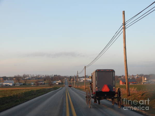 Photograph - A Clear Winter Evening In Amish Country by Christine Clark
