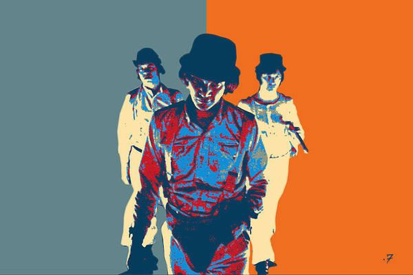 Digital Art - A Clockwork Orange - The Droogs  by Serge Averbukh