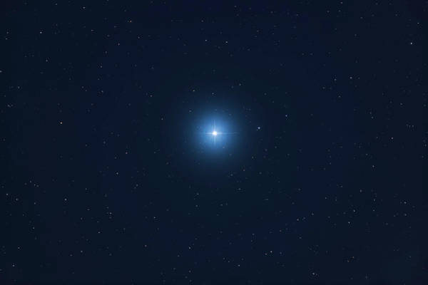 Photograph - A Close-up Of Rigel In Orion, Taken by Alan Dyer