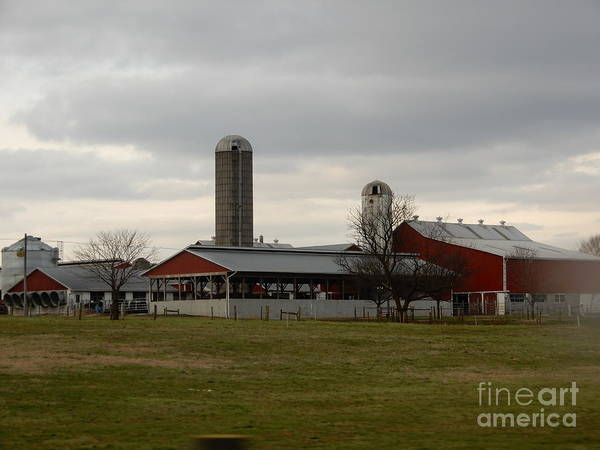Photograph - A Cloudy Amish Homestead In The Evening by Christine Clark