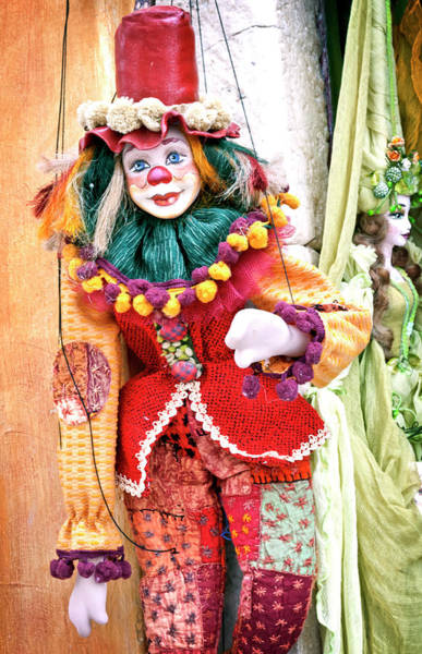 Photograph - A Clown Puppet In Santorini by Usha Peddamatham