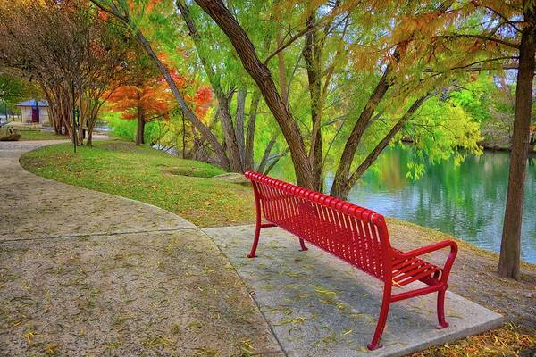 Photograph - A Colorful Stop Along Boerne's River Walk by Lynn Bauer