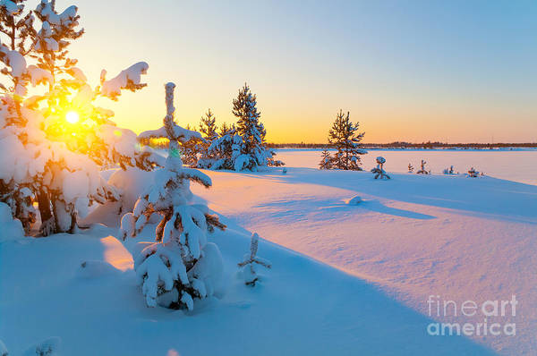 Wall Art - Photograph - A Colorful Sunset On A Winter Evening by Leonid Ikan
