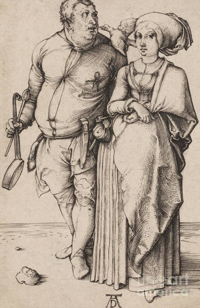 Cook Drawing - A Cook And His Wife by Albrecht Durer