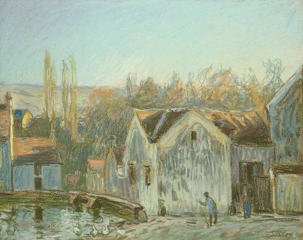 Wall Art - Pastel - A Corner Of Moret-sur-loing by Alfred Sisley