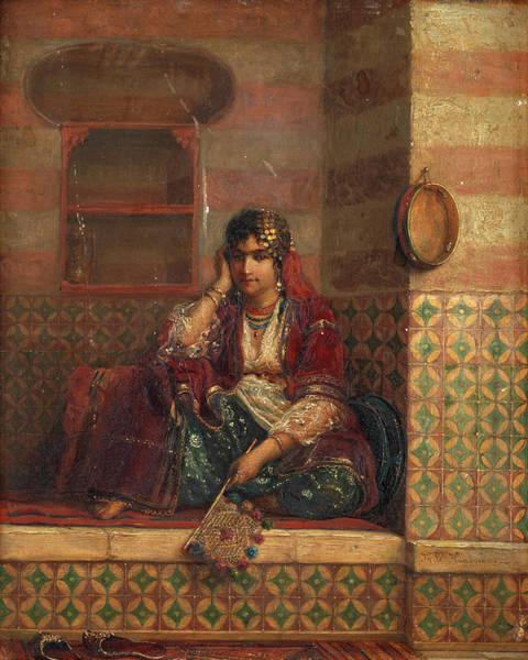 Wall Art - Painting - A Corner Of The Harem One by Jan Baptist Huysmans