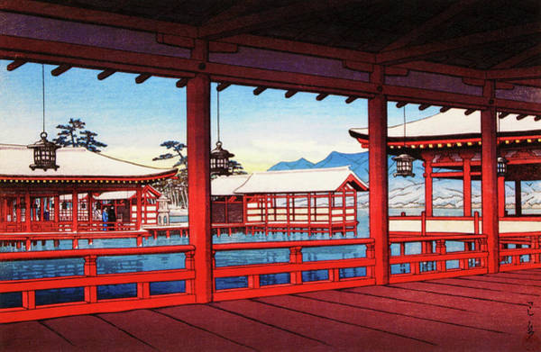 Wall Art - Painting - A Corridor At Miyajima - Digital Remastered Edition by Kawase Hasui