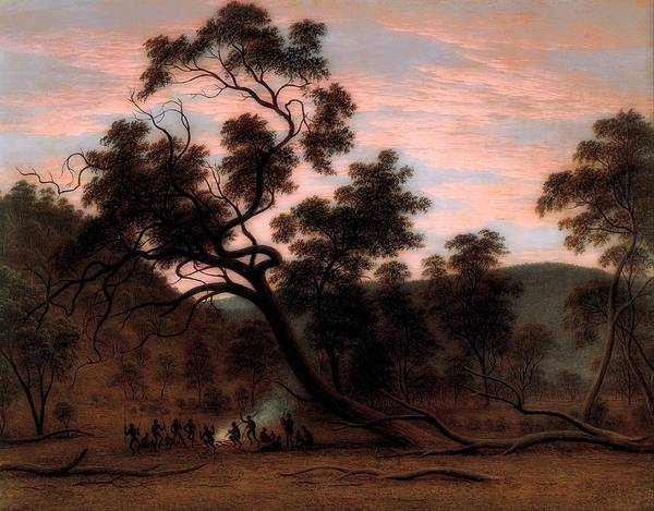Aborigine Painting - A Corroboree Of Natives In Mills Plains, Australia by John Glover