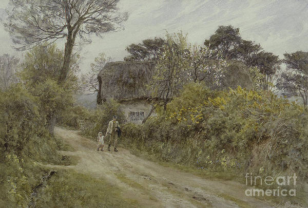 Wall Art - Painting - A Cottage In The Isle Of Wight by Helen Allingham