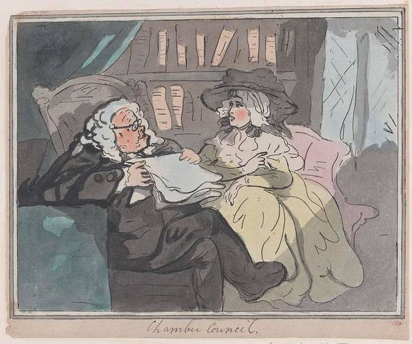 Wall Art - Painting - A Counselor's Opinion After He Had Retired From Practice After Thomas Rowlandson British, London 17 by Thomas Rowlandson