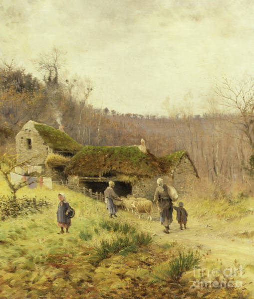 Wall Art - Painting - A Country Farmstead by Frederico Rossano