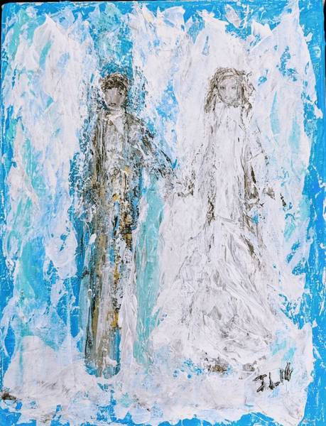 Painting - A Couple Of Angels  by Jennifer Nease