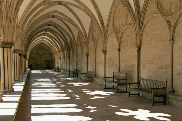 Design Photograph - A Covered Corridor With Benches And A by Jim Julien / Design Pics