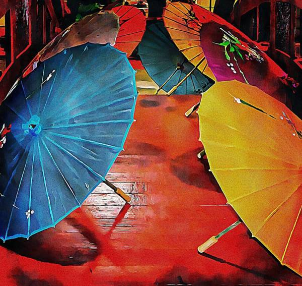 Photograph - A Crowd Of Parasols by Dorothy Berry-Lound
