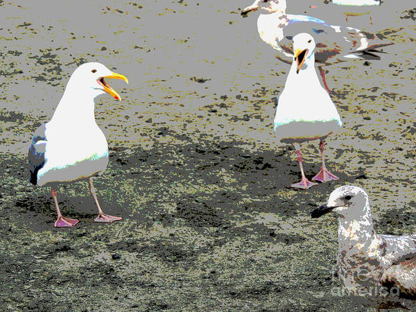 Seagulls Mixed Media - A Day At The Beach by Beverly Guilliams