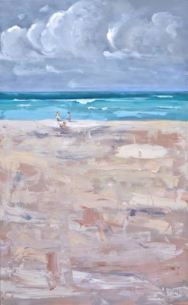 Painting - A Day At The Beach by Donna Tuten