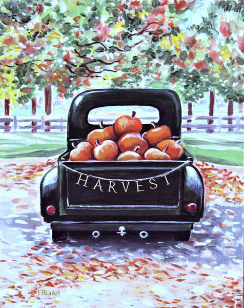 Painting - A Day At The Pumpkin Patch by Elizabeth Robinette Tyndall