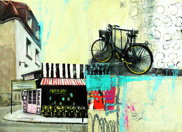 Mixed Media - A Day In Paris by Elena Nosyreva