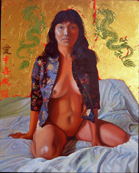 Painting - A Day In The Life Of An Imperial Concubine by Thu Nguyen
