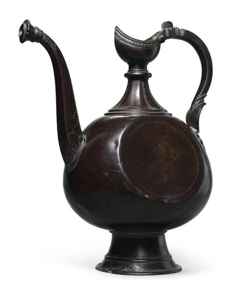 Wall Art - Painting - A Deccani Brass Ewer, India, 17th Early 18th Century by Celestial Images